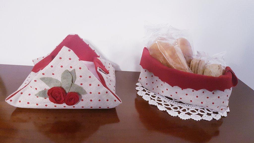Set per la colazione-cestino e porta tovaglioli-