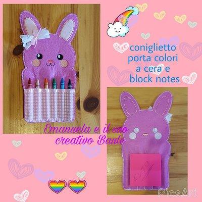 Coniglietto porta colori