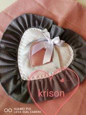 Copri tavoloccia universale stile shabby/moderno rosa e grigio