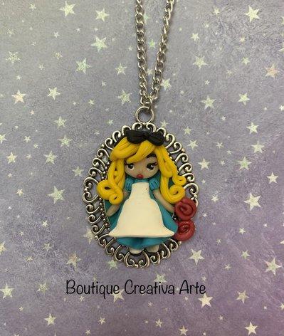 Collana in fimo Alice nel paese delle meraviglie / Alice in the wonderland