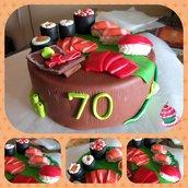 decorazione torta sushi cake topper