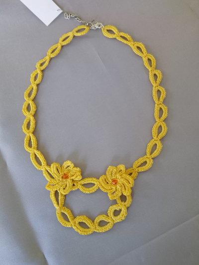 """Collana """"Crochet"""" gialla"""