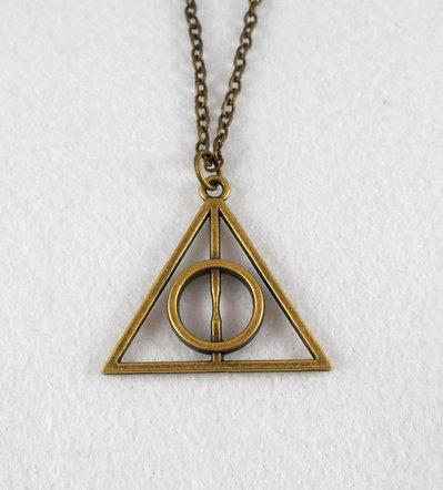 Collana Doni Della Morte bronzo Harry Potter