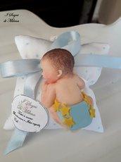 Bomboniera Battesimo Sacchettino con Bebè