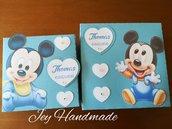 Scatoline baby Mickey topolino scatolina nascita battesimo evento compleanno segnaposto bomboniera