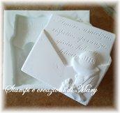 Stampo targa lettera comunione in silicone
