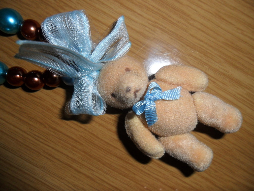 collana orsetto azzurra