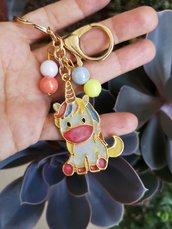 Portachiavi unicorno in resina, charm da borsa con unicorno, regalo unicorno per migliore amica, compleanno unicorno, portachiavi kawaii