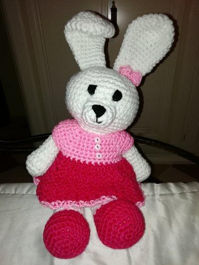 Coniglietta vestitino rosa