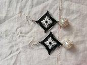 Orecchini rombo perla
