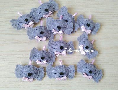 Bomboniera bimba koala in feltro confettata nascita battesimo