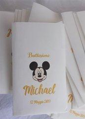20 Sacchetti-bustine confettata personalizzati mickey mouse ,battesimo,nascita, primo compleanno...
