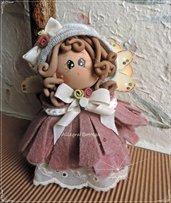Cartamodello angioletto sulla campanella