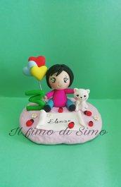Cake topper compleanno bimba