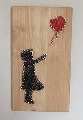 quadro string art Bambina con Palloncino