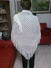 scialle bianco vera moda