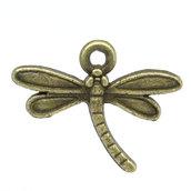 20 charms libellula bronzo 18x14mm
