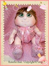 Cartamodello bambola neonata articolata.
