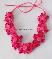 Collana kanzashi con fiori 4.3