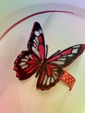 6 Legatovaglioli farfalla in rosso