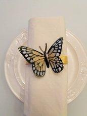 6 Legatovaglioli farfalla in oro