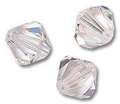 15 Cristalli Modello Bicono Swarovski 4mm Crystal