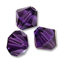 15 Cristalli Modello Bicono Swarovski 4mm Purple Velvet
