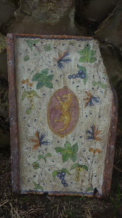 Tegola decorativa dipinta  a mano