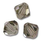 15 Cristalli Modello Bicono Swarovski 4mm Black Diamond