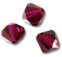 15 Cristalli Modello Bicono Swarovski 4mm Ruby