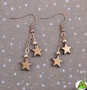 Orecchini Ematite con stelle