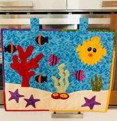 Copriforno con pesci e coralli