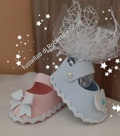 fustellato scarpetta porta confetti