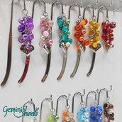 Segnalibro Bookmark decorato, vari colori