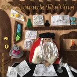 Leonardo Da Vinci in panno