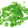 50 perle rondelle cristallo verde intenso 6 mm