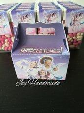 Scatoline porta confetti miracle tunes segnaposto compleanno festa caramelle