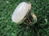 anello argento e pietra di luna