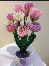 Fiori di perline tulipani