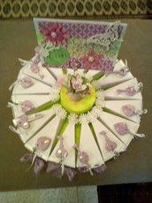 TORTA Bomboniere portachiavi Comunione Matrimonio Compleanno ARTIGIANALE, handmade, fatto a mano