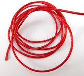 10 metri cordino cotone cerato 1mm rosso