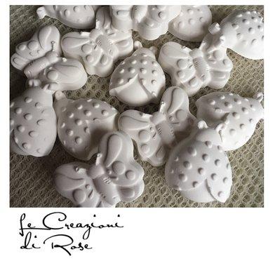 100 pezzi gessetti profumati farfalle coccinelle segnaposto bomboniere matrimonio comunione nascita