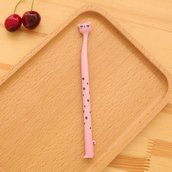 Penna gel gatto colore rosa