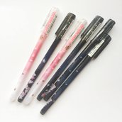 Penna gel fiori di Sakura (colore rosa)
