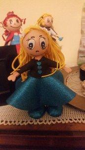 """bambolina """"Lolla"""" in gomma eva altezza circa cm 20"""