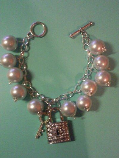 bracciale gioiello chiave luchetto