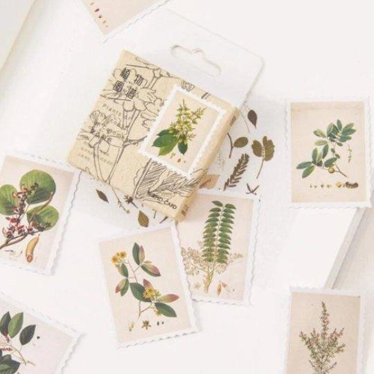 Stickers fiori e piante in stile retrò