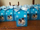 Scatolina completa confetti bigliettino segnaposto nascita battesimo bimbo topolino baby compleanno