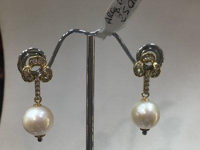 Orecchini eleganti di Perle coltivate e argento925