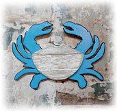Granchio, decorazione da parete in legno